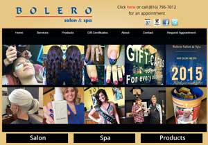 Bolero Salon & Spa site and content revamp