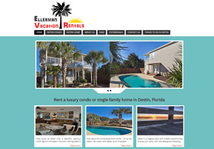 Ellerman Vacation Rentals site redesign