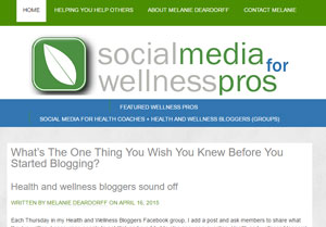 Social Media for Wellness Pros site by Melanie Deardorff