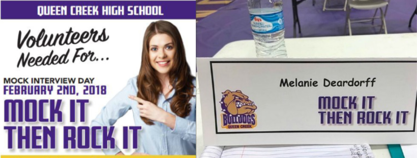 Melanie Deardorff's volunteer stint at Queen Creek H.S. as a marketing judge